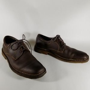 Johnston & Murphy Brown Leather Square Toe Oxfords